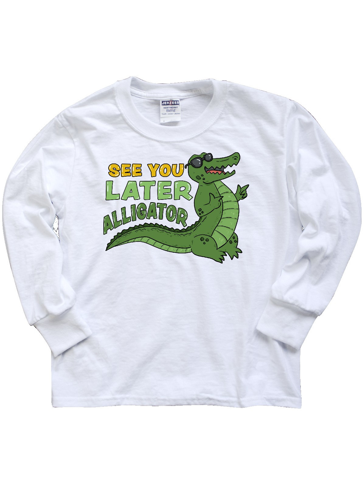 See You Later Alligator With Black Sunglasses Youth Long