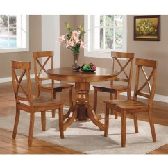 Pedestal Kitchen Table Tiles Wall Home Styles Dining Cottage Oak Walmart Com