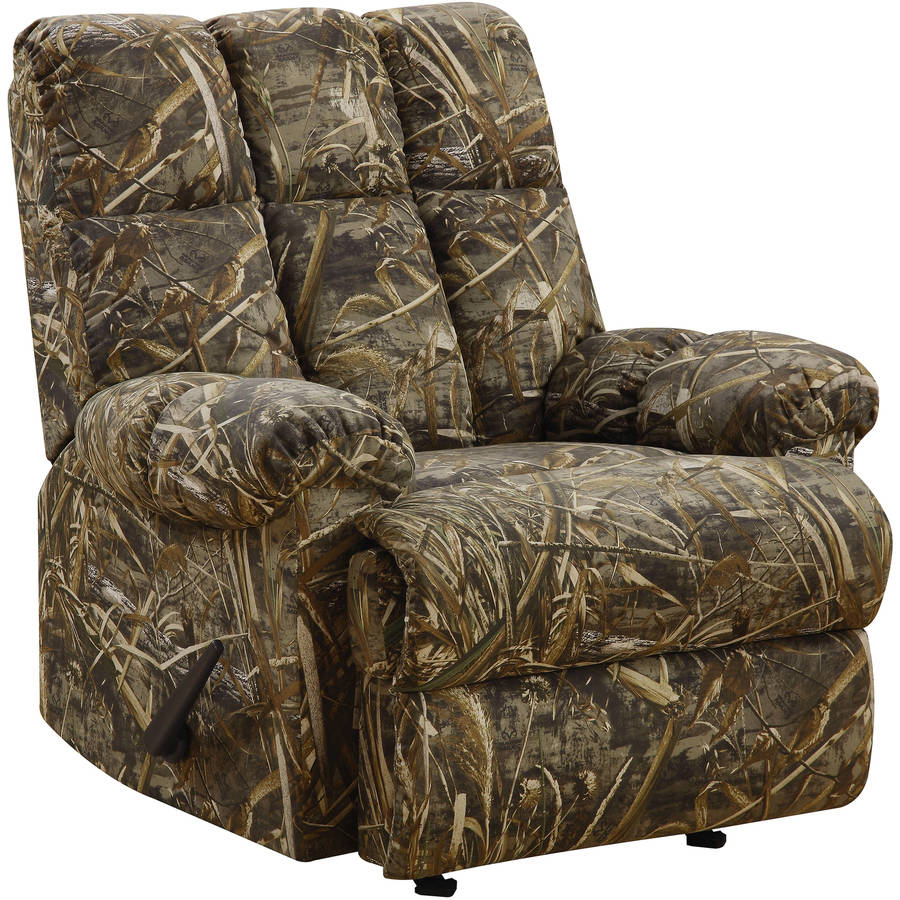 camo recliner chair covers and sashes for rent rocker armrest lounge lazy boy sofa camouflage furniture