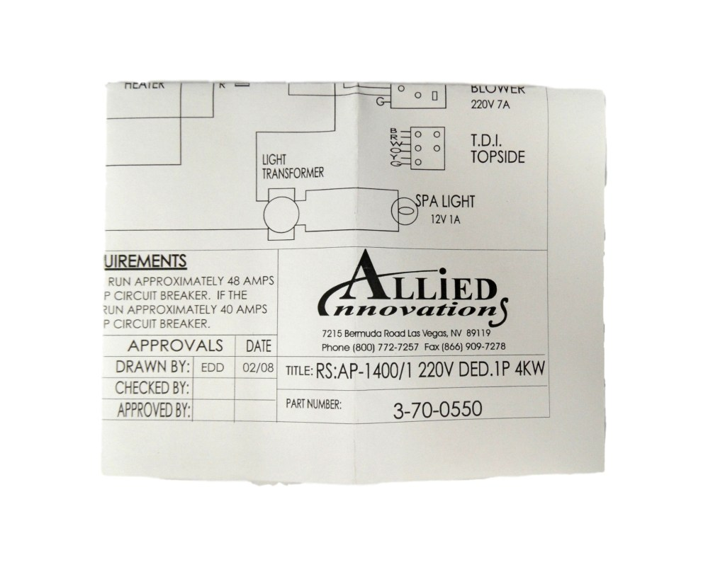 medium resolution of allied innovations 3 70 0550 wiring diagram ap 1400 rs 1400 1 220v ded 1p 4kw walmart com