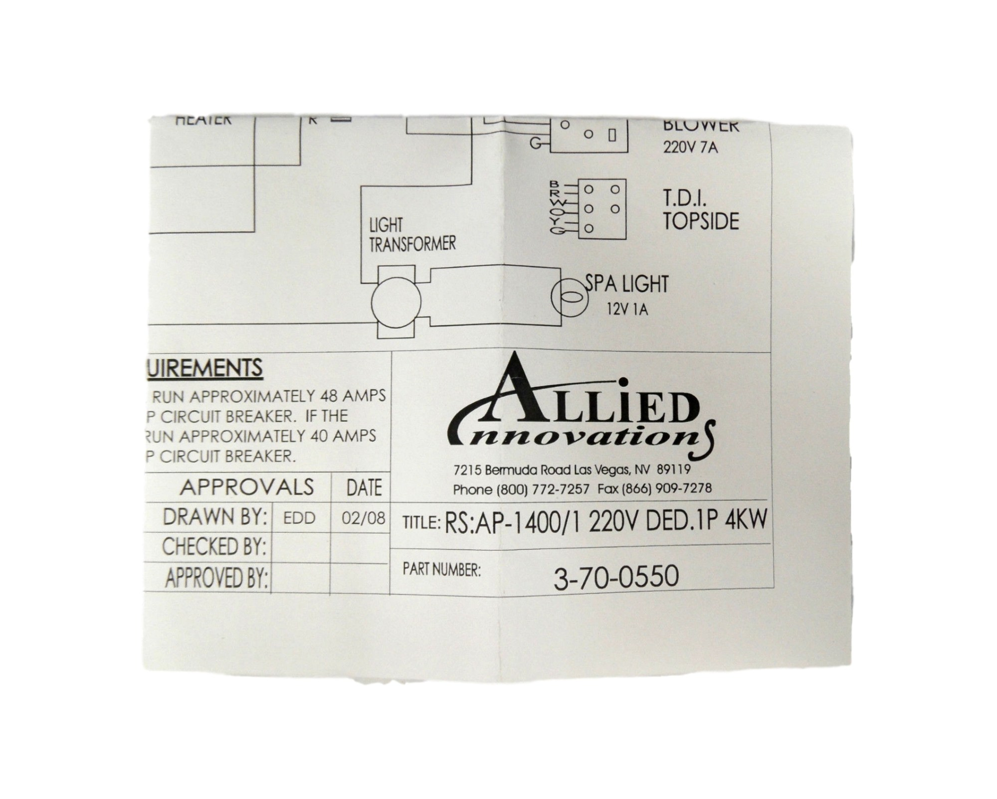 hight resolution of allied innovations 3 70 0550 wiring diagram ap 1400 rs 1400 1 220v ded 1p 4kw walmart com