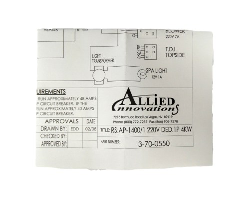 small resolution of allied innovations 3 70 0550 wiring diagram ap 1400 rs 1400 1 220v ded 1p 4kw walmart com