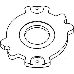 White Oliver Tractor Brake Adjustment Disc 1755 1855 1955
