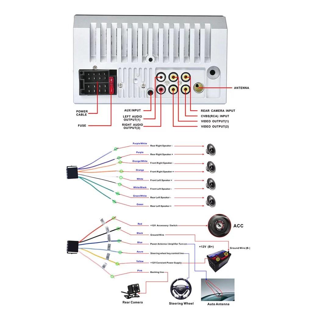 hight resolution of 2din 7012b mp3 mp5 player fm car radio stereo audio music usb digital touch screen bluetooth aux input player walmart com