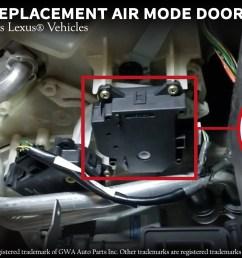 mode hvac air door actuator fits lexus 97 05 gs300 gs400 gs430 is300 rx300 2002 2010 sc430 replaces 8710630371 604 917 87106 30371  [ 3307 x 1868 Pixel ]