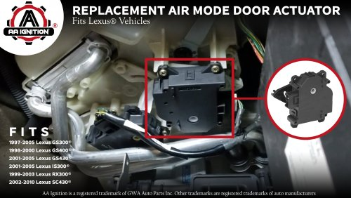 small resolution of mode hvac air door actuator fits lexus 97 05 gs300 gs400 gs430 is300 rx300 2002 2010 sc430 replaces 8710630371 604 917 87106 30371