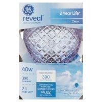 GE Reveal 390 Lumens 40W Clear Decorative G25 Halogen Bulb ...