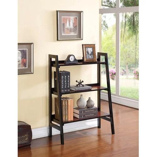 linon camden 3 shelf bookcase black cherry 40 inches tall