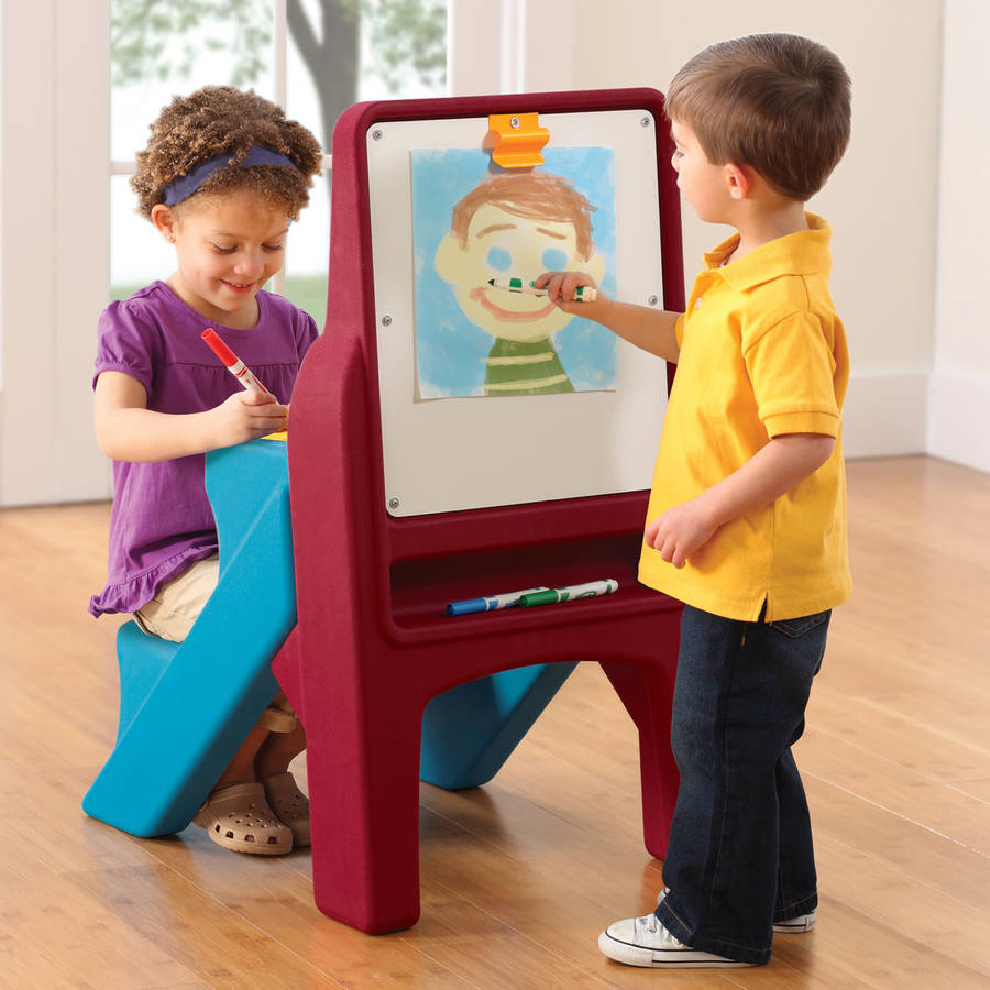 Step2 Art Easel Desk Dry erase board includes clip to