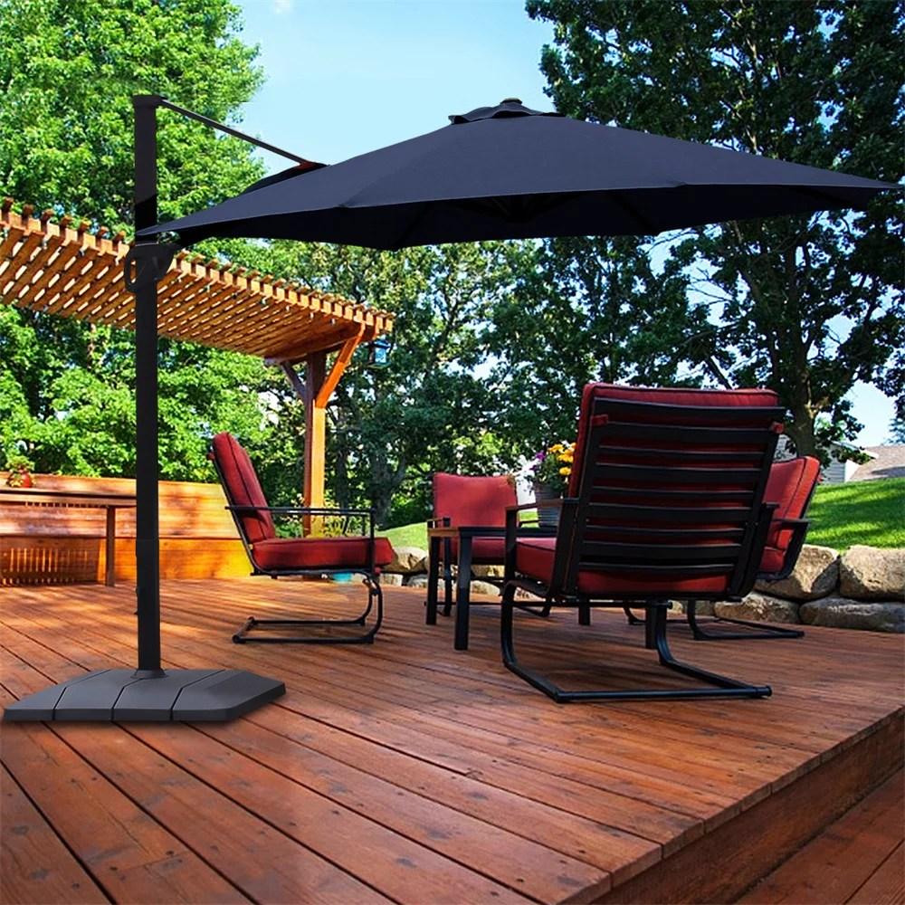 island umbrella victoria 13 ft octagonal cantilever patio umbrella with valance