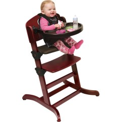 Badger Basket Evolve High Chair Back Support Office Chairs South Africa Convertible Wood With Tray And Cushion Cherry Walmart Com