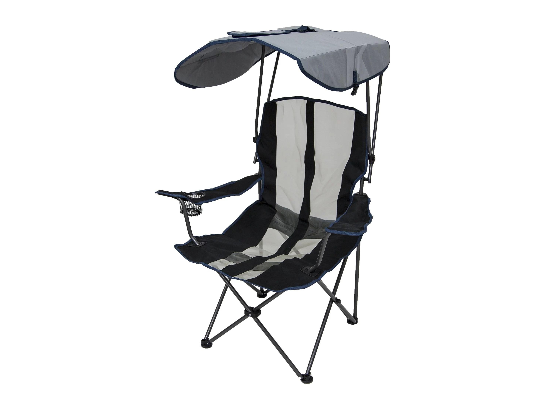 portable lawn chairs purple ball chair kelsyus premium camping folding w canopy navy 80188 walmart com