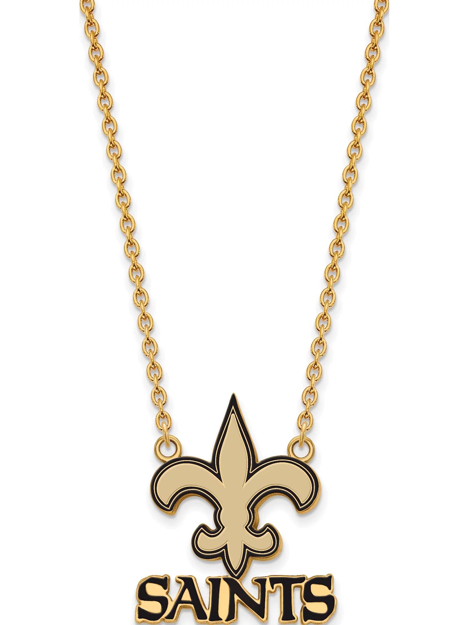 New Orleans Saints Jewerly : orleans, saints, jewerly, Orleans, Saints, Large, Pendant, Necklace, Walmart, Canada