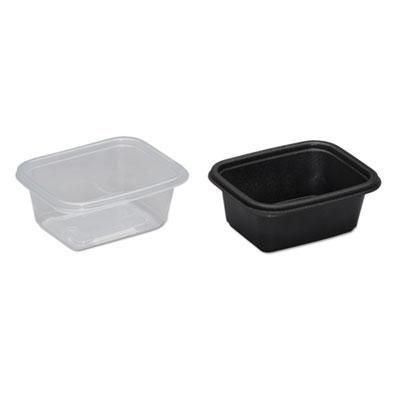 genpak microwave safe containers plastic 16 oz black 4 3 4 x 2 3 8 x 6 300 carton