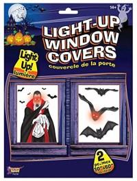 Light Up Window Cover Bats Indoor House Decor Halloween ...