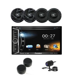 power acoustik 6 2 dvd cd multimedia car stereo 6 5 3 way coaxial speakers tweeters backup camera [ 1000 x 1000 Pixel ]