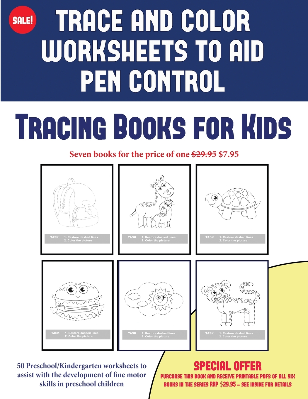 50 Tracing Books For Kids Trace And Color Worksheets To
