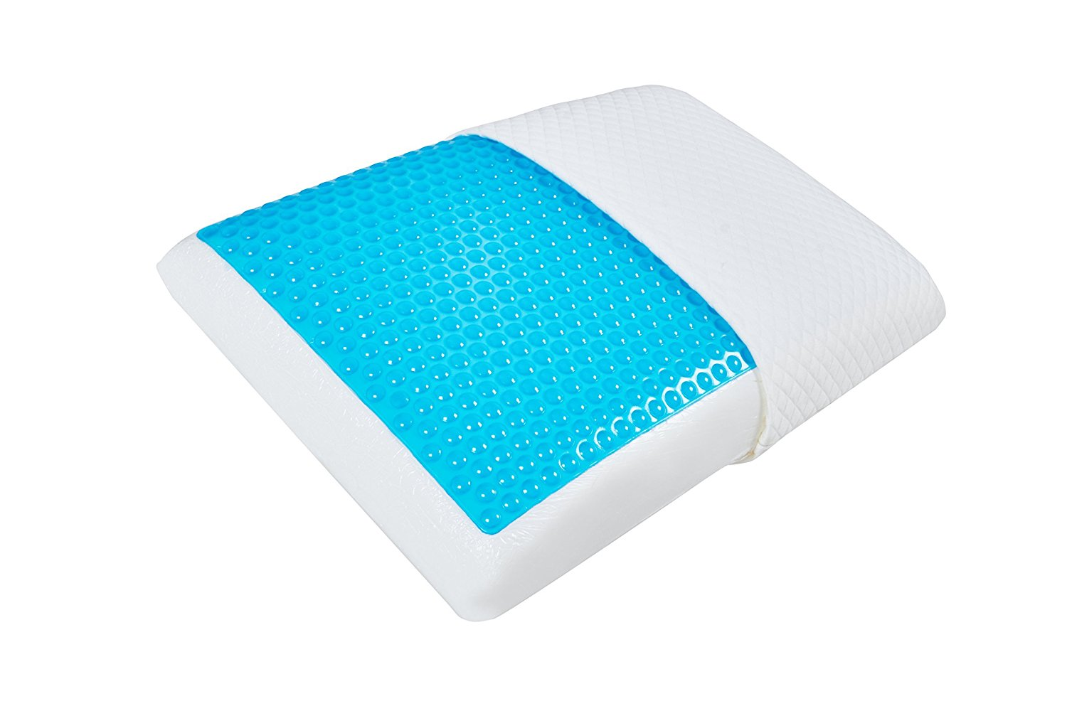 Acanva Memory Foam Pillow with Cooling Gel and Natural