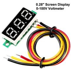 dc 8v 3a transparent voltmeter voltage panel meter tester plug in type [ 1100 x 1100 Pixel ]