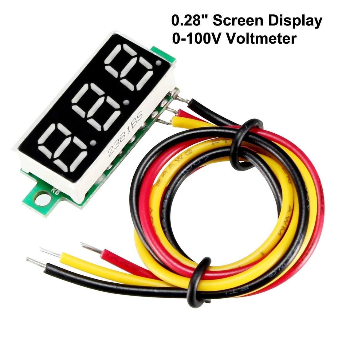 hight resolution of dc 8v 3a transparent voltmeter voltage panel meter tester plug in type