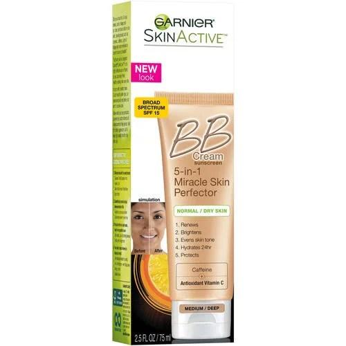 Garnier Skin Active Medium / Deep Broad Spectrum BB Cream Sunscreen, SPF 15, 2.5 fl oz