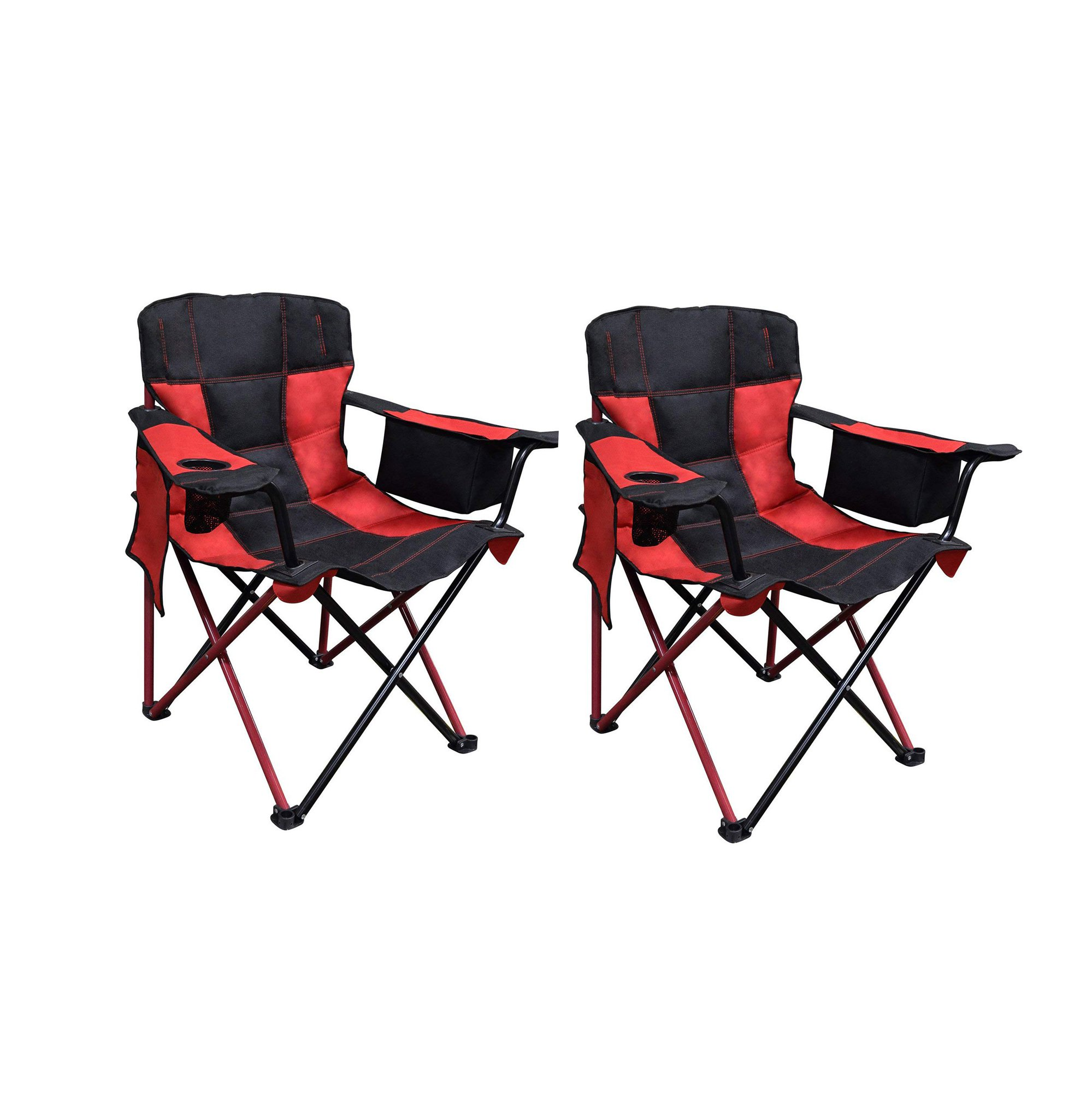 Camping Chair With Canopy Caravan Canopy Elite Quad Outdoor Camping Chair W Built In Cooler Red 2 Pack