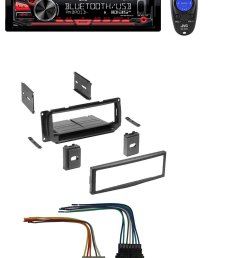 new car stereo radio kit dash installation mounting trim bezel w wiring harness and jvc kd r780bt 1 din cd receiver with bluetooth and jvc app remote  [ 1131 x 1416 Pixel ]