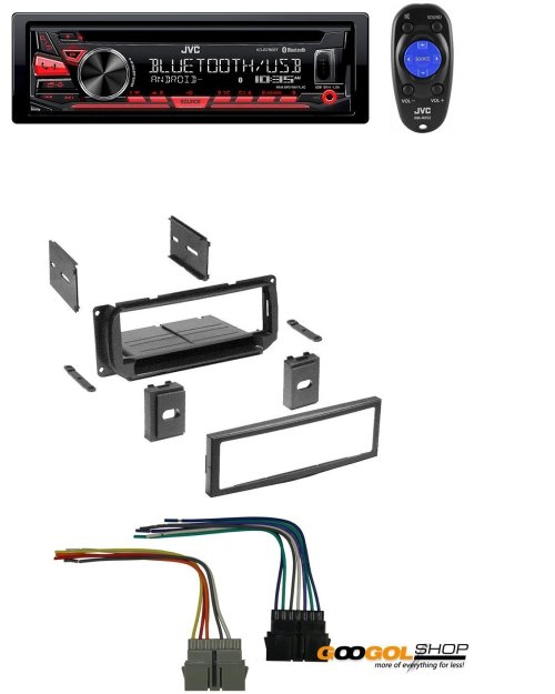 small resolution of new car stereo radio kit dash installation mounting trim bezel w wiring harness and jvc kd r780bt 1 din cd receiver with bluetooth and jvc app remote