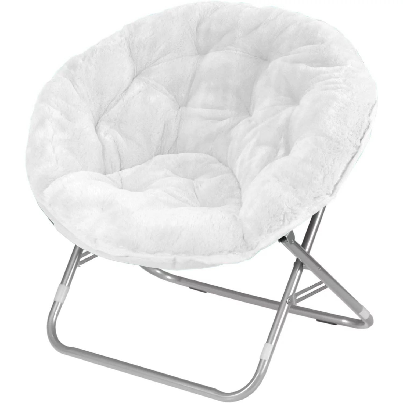 Mainstays FauxFur Saucer Chair Multiple Colors  Walmartcom