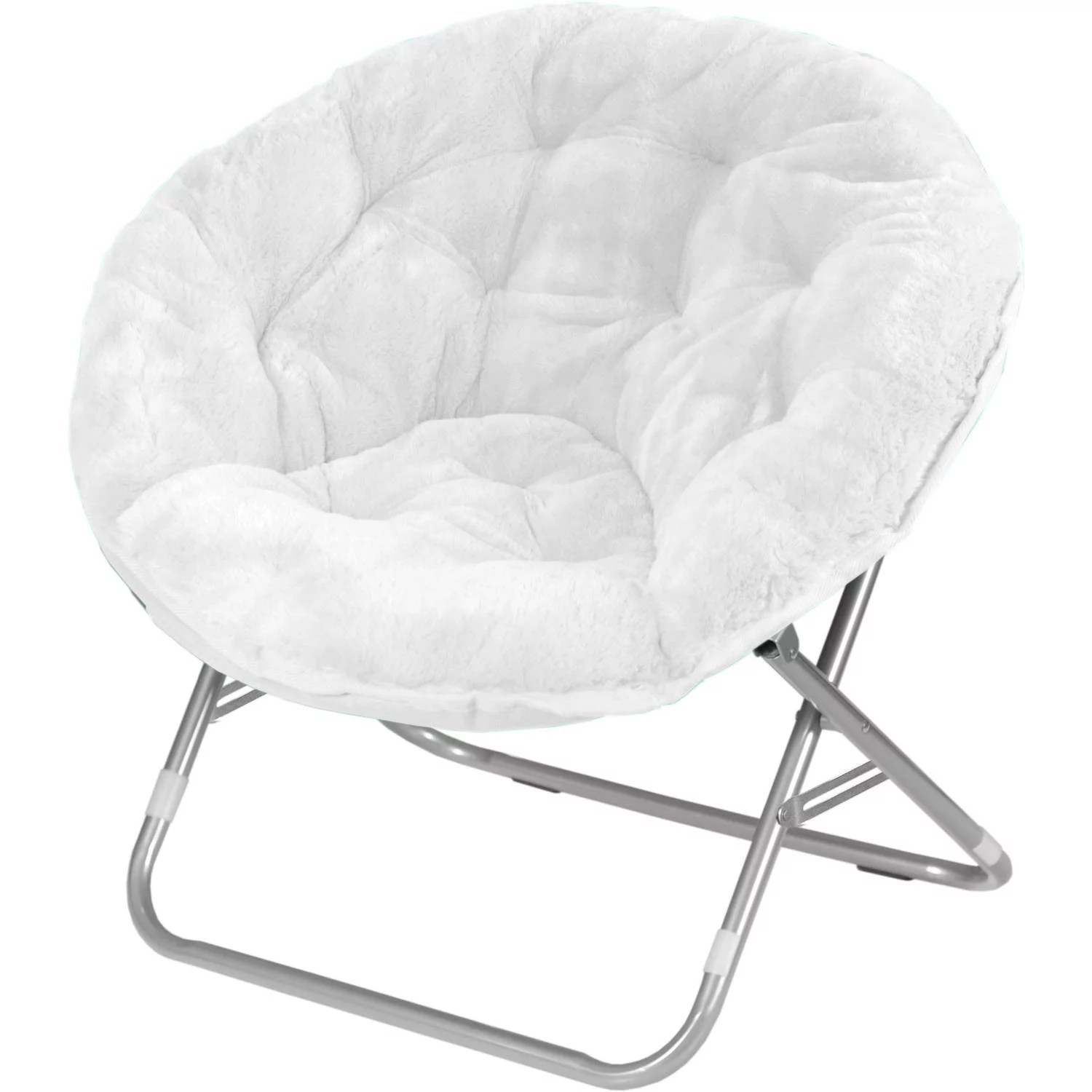 Plush Chairs Mainstays Faux Fur Saucer Chair Available In Multiple Colors