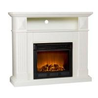 Miramar Electric Fireplace Media Console, Ivory