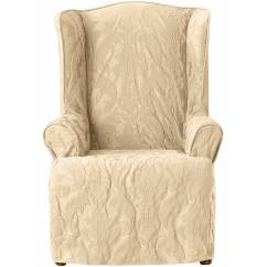 White Cotton Wing Chair Slipcover Best Office Chairs For Back Pain Sure Fit Duck Simple