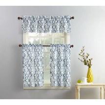 Mainstays Beckham 3-piece Kitchen Curtain And Valance Set