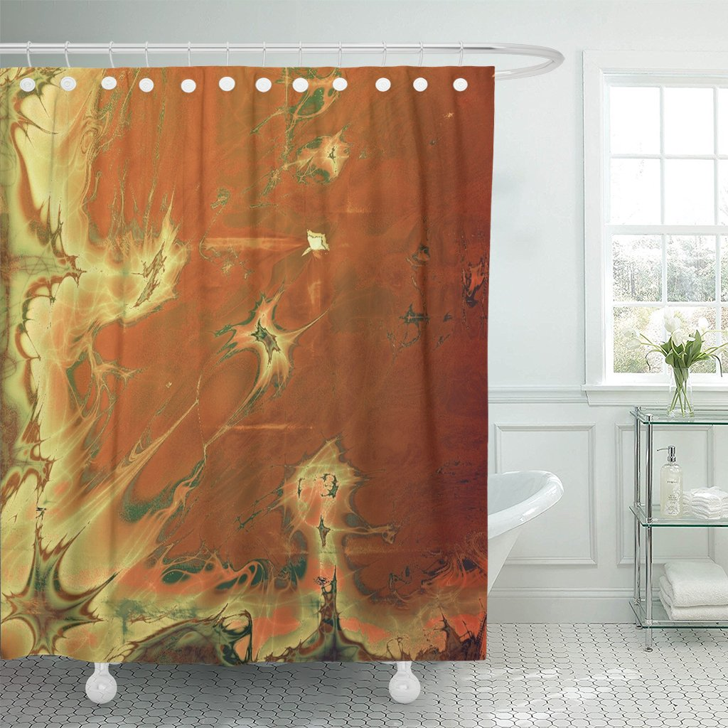 pknmt retro vintage faded patterns yellow beige brown shower curtain 60x72 inches walmart com