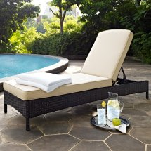 Crosley Furniture Palm Harbor Outdoor Wicker Chaise Lounge