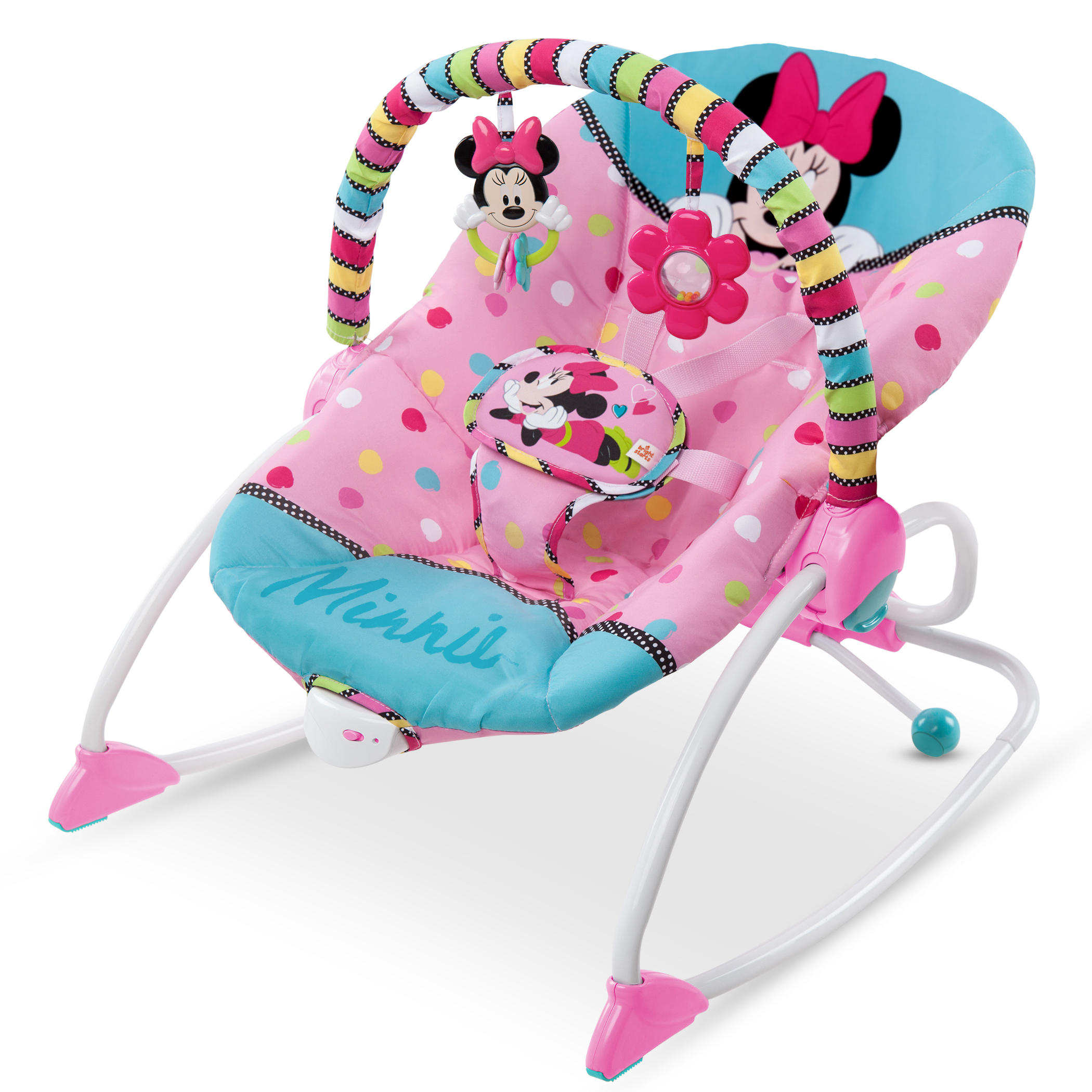 baby rocker chair small leather club chairs disney minnie mouse peekaboo infant to toddler walmart com