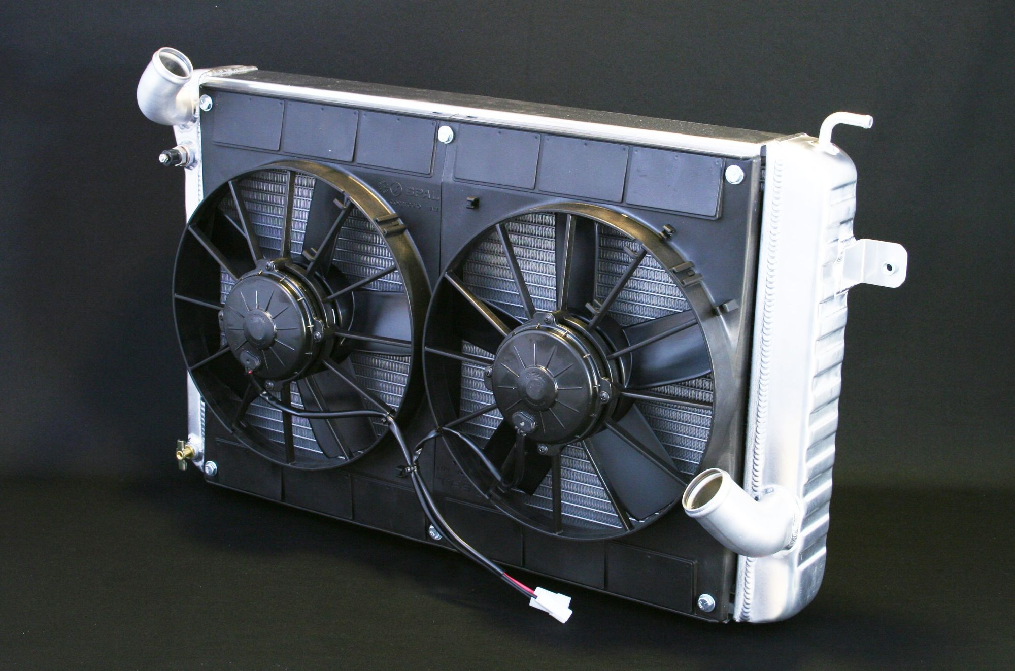 hight resolution of 4139025m dual 11 spal fans wiring radiator for corvette bb size in sb mounts walmart com