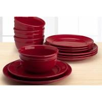 Mainstays Amelia 12-Piece Solid Color Dinnerware Set ...