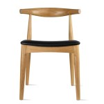 2xhome Natural Solid Real Wood Pu Leather Cushion Seat Elbow Chair Dining Armless No Arm Side Chair Hans Wegner Style Walmart Com Walmart Com