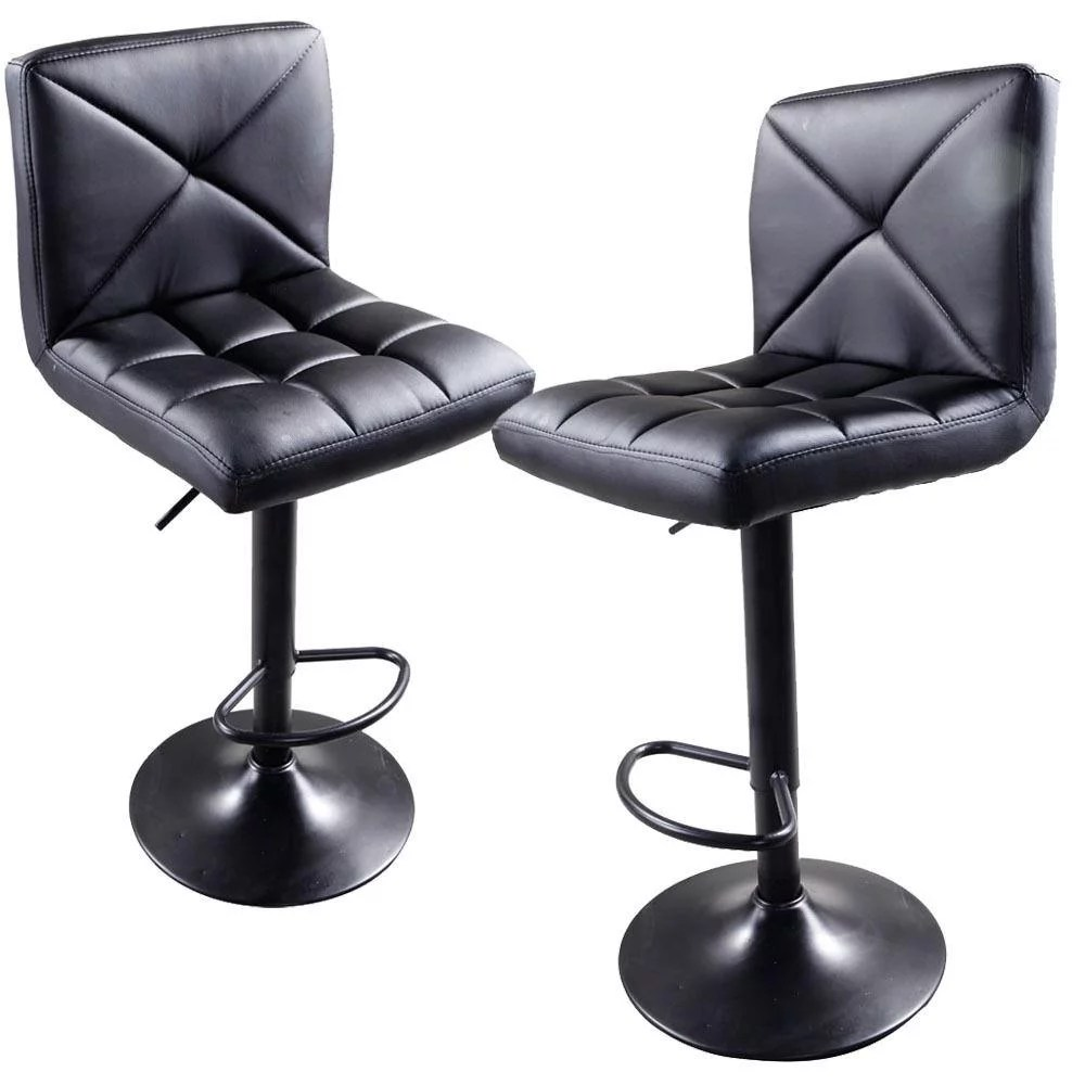 Counter Chair Ktaxon Set Of 2 Adjustable Swivel Counter Chair Bar Stools Chairs Pu Leather Black