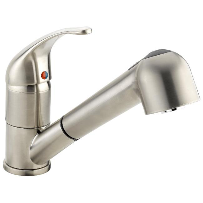 kitchen sink faucet remodeling silver spring md belanger eby77cbn with pull out spout 1 handle brushed nickel