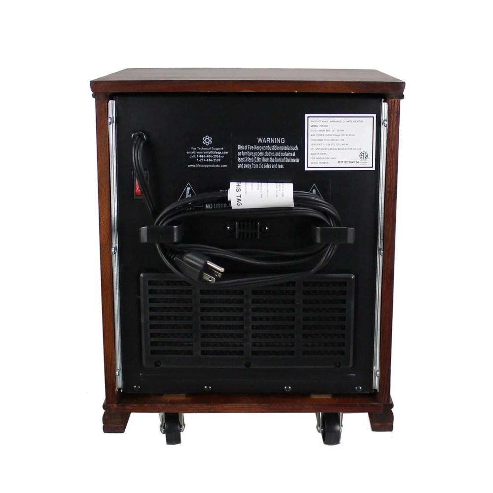 medium resolution of lifesmart lifepro dark oak 1500 watt infrared electric portable space heater walmart com