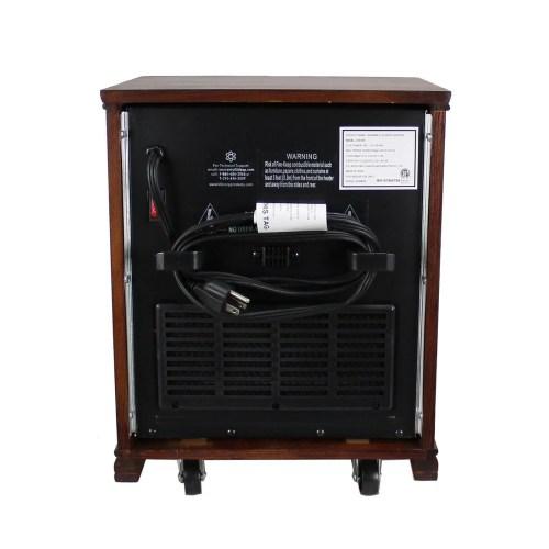 small resolution of lifesmart lifepro dark oak 1500 watt infrared electric portable space heater walmart com