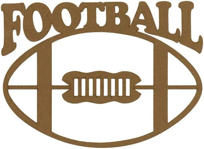 Scrapbook 101 Shape Cardstock Die Cuts Football Multi