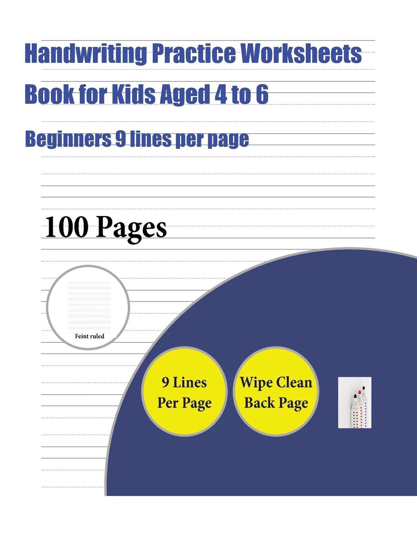 Handwriting Practice Worksheets Book For Kids Handwriting