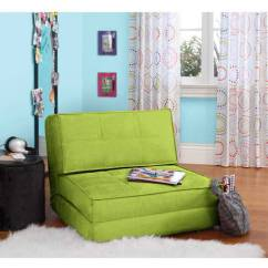 Your Zone Flip Chair Green Glaze Giant Pillow Chair, Multiple Colors - Walmart.com