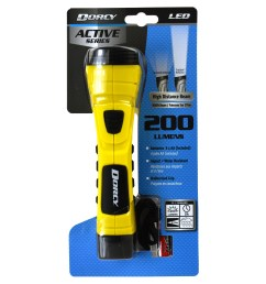 dorcy 190 lumen cyberlight durable led flashlight with true spot reflector yellow walmart com [ 3407 x 3407 Pixel ]