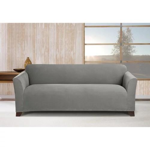 stretch morgan 1 piece sofa furniture cover small office corner gray walmart com