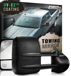 opt7 deluxe pair truck towing trailer mirrors for 2007 2014 chevy silverado gmc sierra 1500 2500 3500 powered heated extendable 10 year warranty  [ 1600 x 1600 Pixel ]