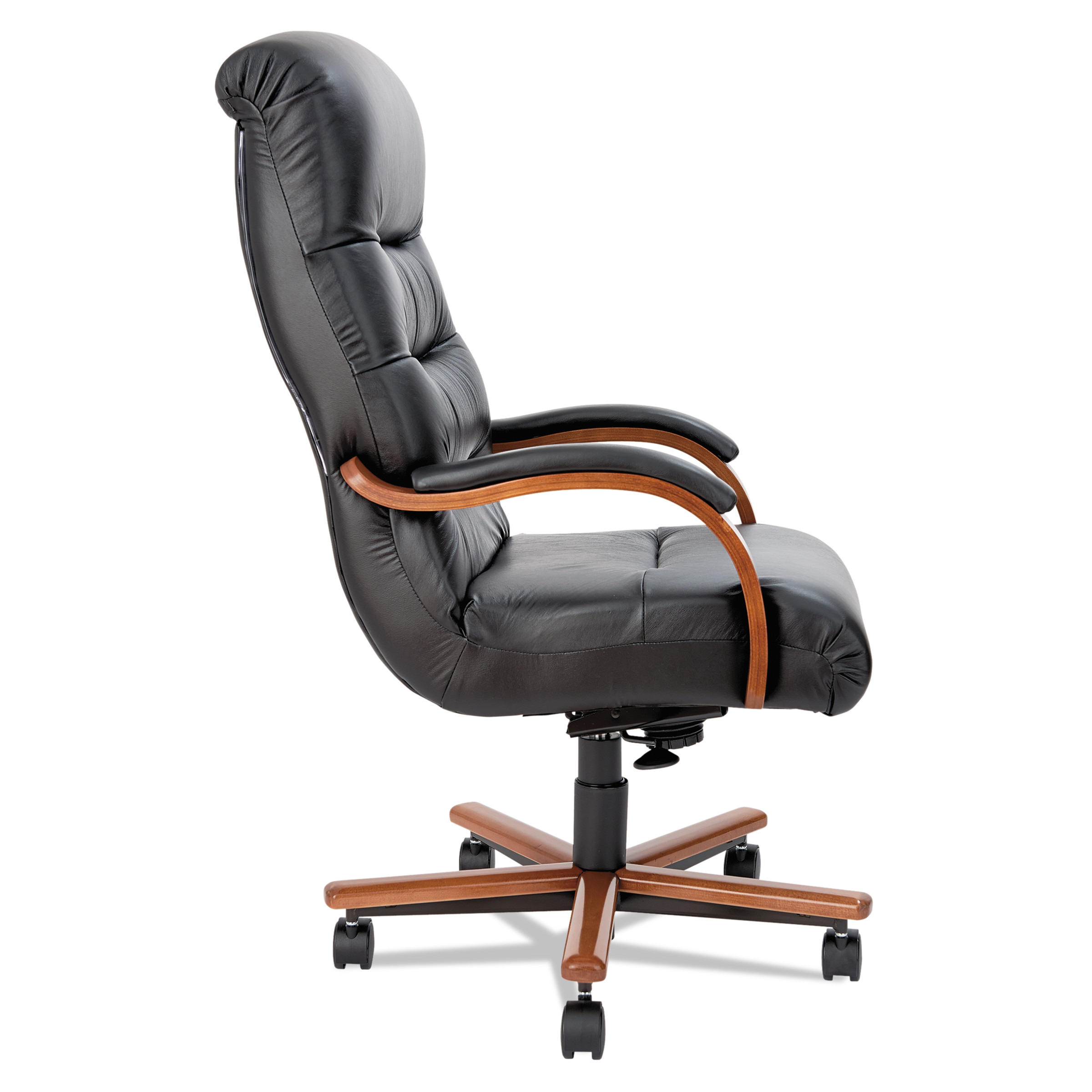 la z boy black leather executive office chair uk giraffe rocking 92123 horizon high back with arms